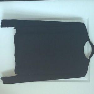 H&M black blouse, back sequins...